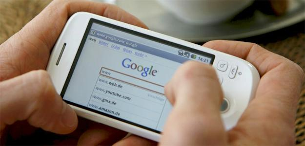 Cell Phone Browsing Google
