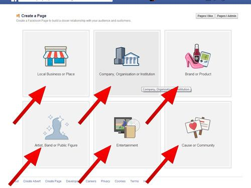 how to create a like page on facebook for business