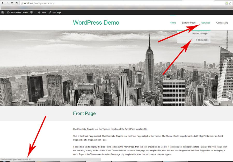 How To Create A WordPress Menu Without A Link - Step 1