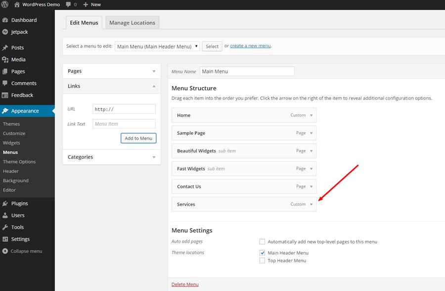 How To Create A WordPress Menu Without Link - Part 6