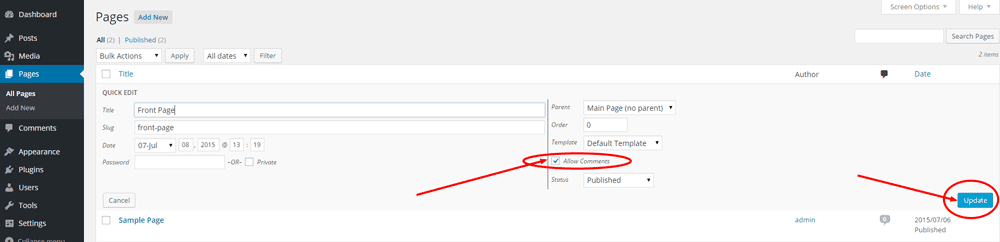 Create Front Page in WordPress - Step 8