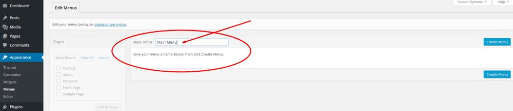 Create the Menu - Step 2