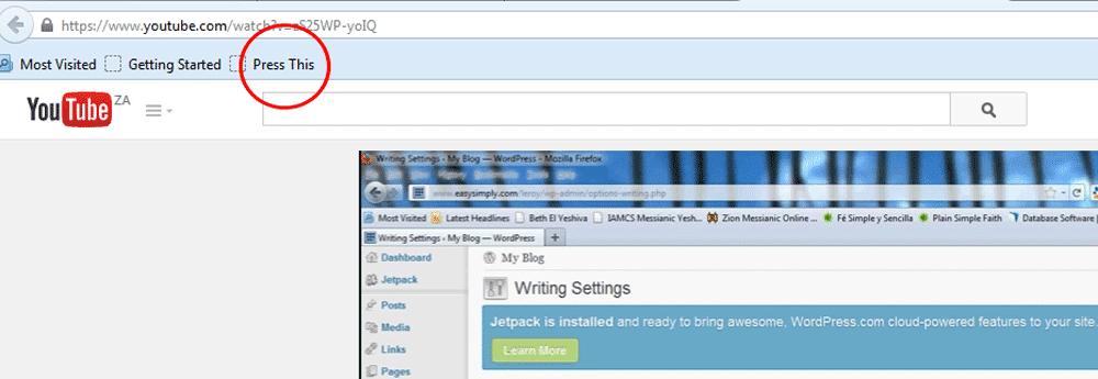 iInstall WordPress Press This Button - Step 5