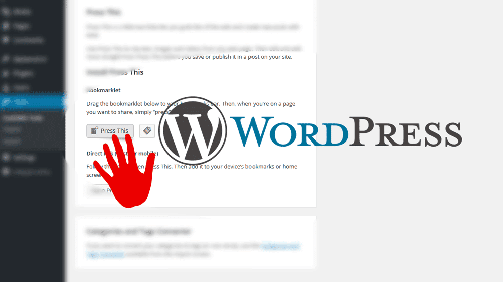 Wordpress Press This Button