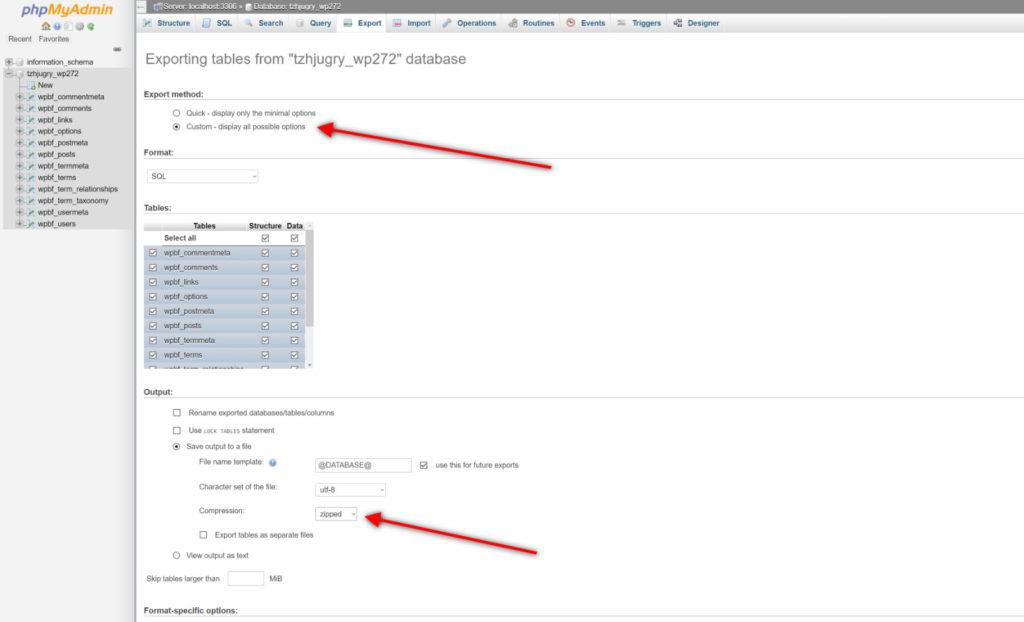 Wordpress Backup Cpanel Backup Database 5